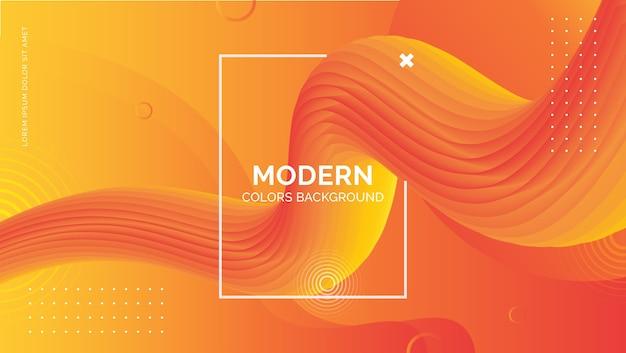 Modello di sfondo moderno colorato onda fluente