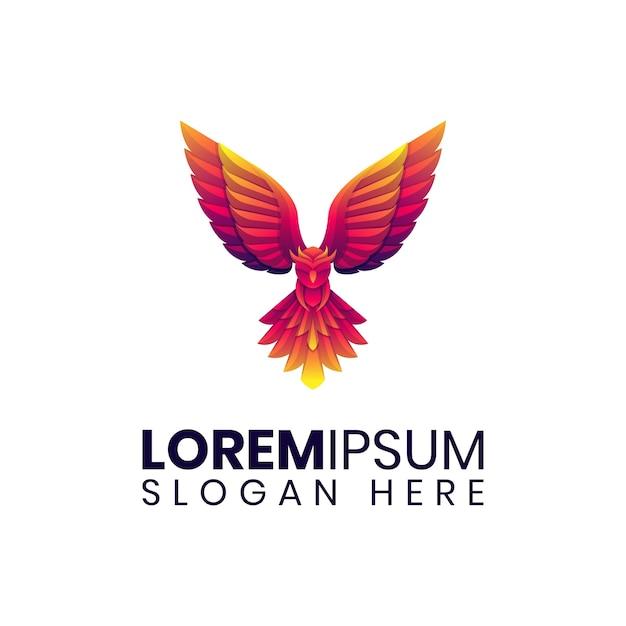 Logo colorato gufo volante