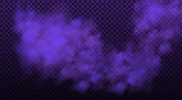 Nebbia colorata, inchiostro vorticoso fumo isolato, effetto speciale trasparente.