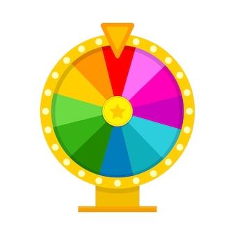 Ruota della fortuna colorata in illustrazione stile piatto