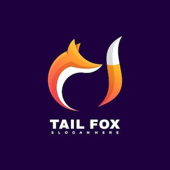 Modello di vettore dell'illustrazione del logo della volpe colorata