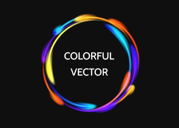 Cornice colorata su sfondo nero