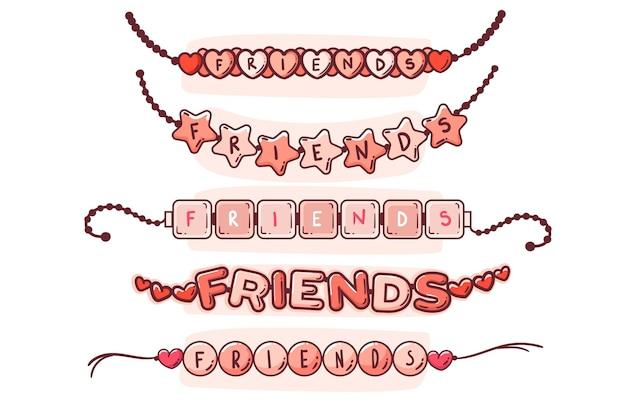 Collezione di banda colorata dell'amicizia