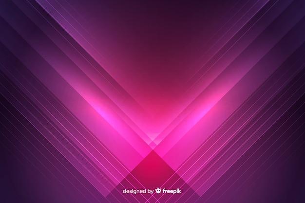 Sfondo futuristico colorato luci al neon Vettore Premium