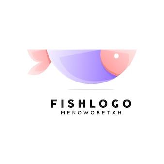 Illustrazione di pesce colorato in stile geometrico Vettore Premium