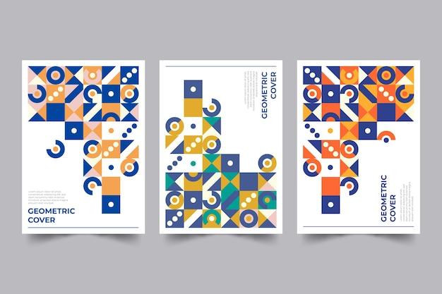 Collezioni di design di copertine geometriche colorate