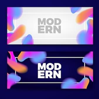 Modello di bandiere colorate gradiente