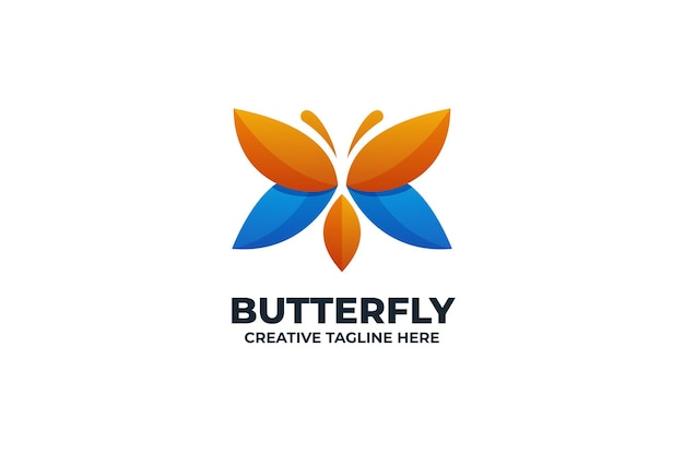 Logo colorato farfalla sfumata