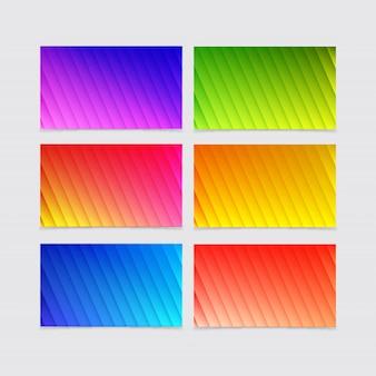 Collezioni di sfondo di forme geometriche sfumate colorate
