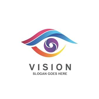 Design del logo con visione sfumata colorata