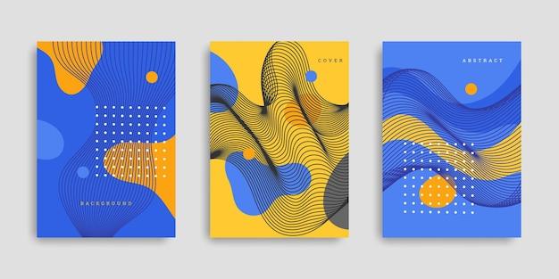 Collezione di copertine di forme colorate disegnate a mano
