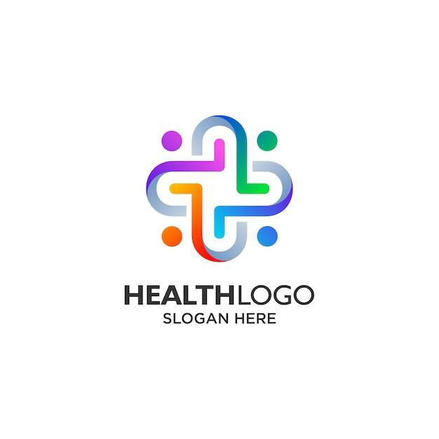 Design del logo colorato comunità sanitaria