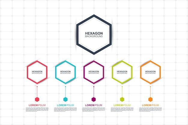 Modello di elementi colorati infographic