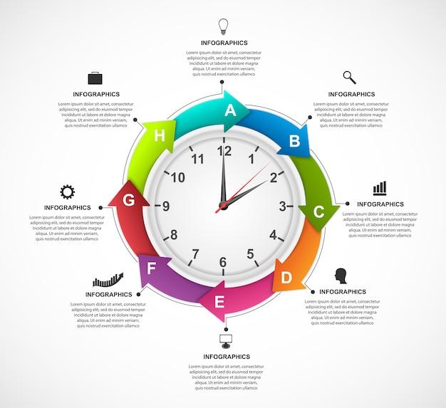 Modello colorato infografica