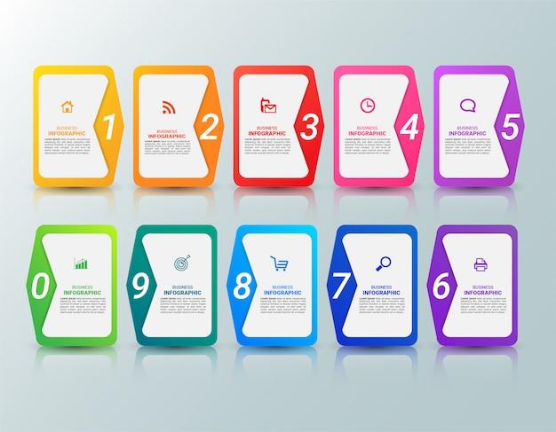 Modello di infografica colorato