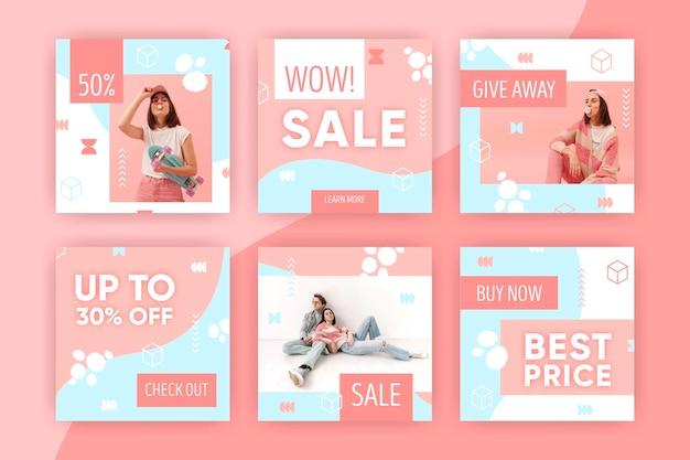 Collezione di post vendita vendita instagram colorato