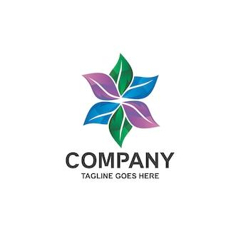 Design del logo con foglie colorate