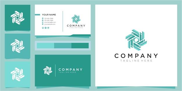 Modello di progettazione di logo comunitario colorato lettera d.