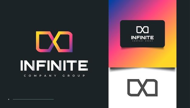 Design del logo colorato con lettera n con stile infinito per loghi aziendali o tecnologici