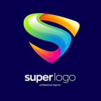 Design del logo colorato lettera s
