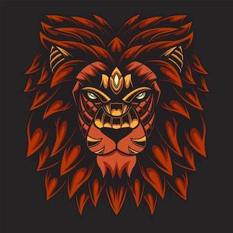 Illustrazione di leone colorato