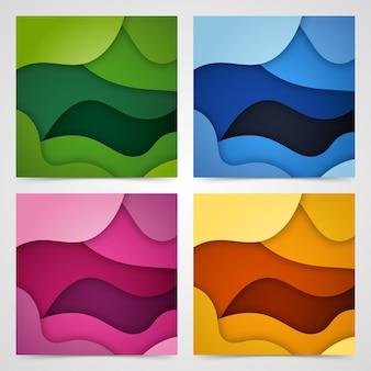 Sfondo liquido e geometrico colorato con forme sfumate fluide