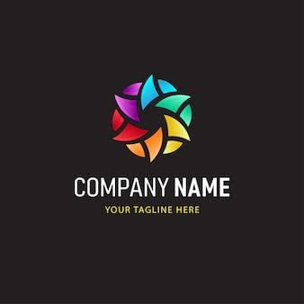 Logo colorato stile astratto e sfumato