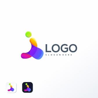 Modello logo colorato