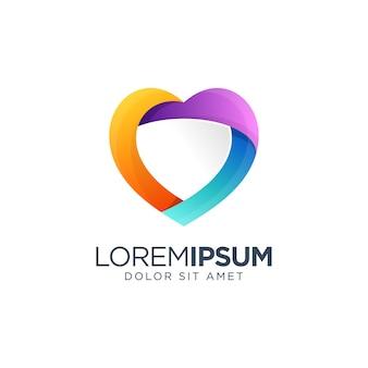 Logo colorato di amore
