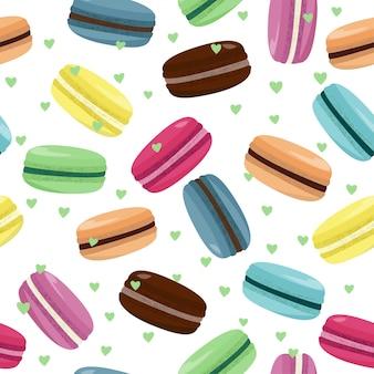 Seamless pattern colorati macarons.