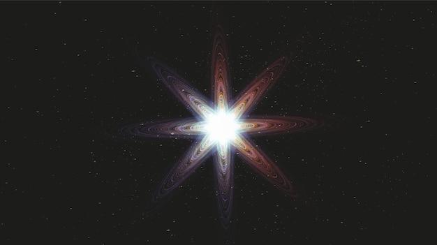Luce magica colorata della stella sullo sfondo della galassia con la spirale della via lattea,universo e concept design stellato,vet
