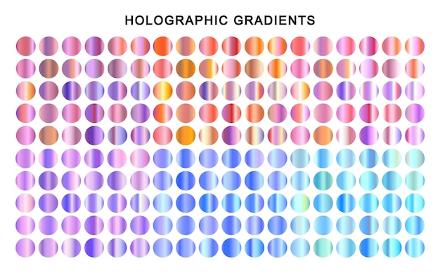 Le sfumature metalliche colorate impostano le trame olografiche