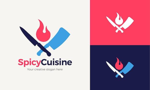 Modello di logo della cucina colorato e moderno