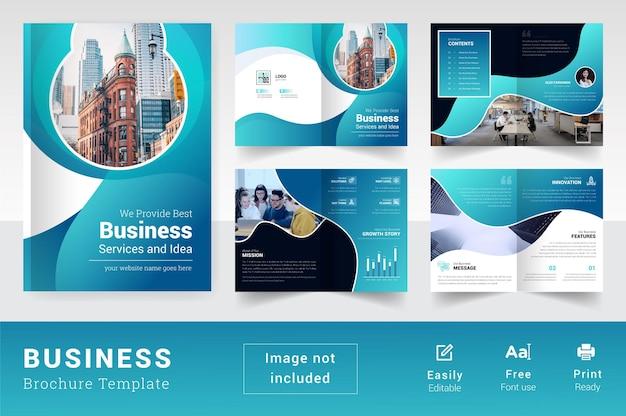 Pagine colorate e moderne modello di brochure aziendale astratto 08 pagine layout aziendale