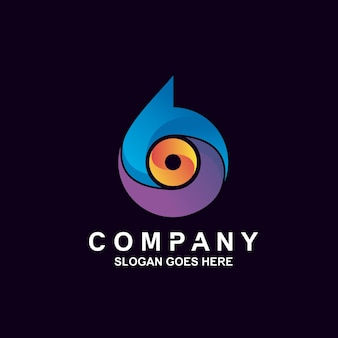 Design del logo colorato numero sei