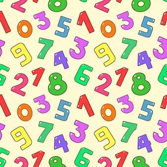 Picchiettio di numeri colorati