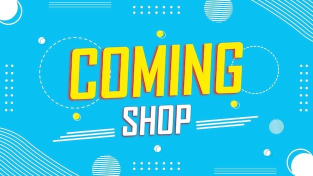 Sfondo colorato di apertura del negozio o banner