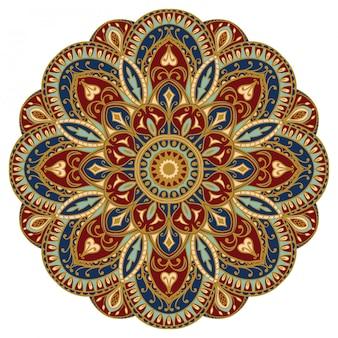 Mandala orientale colorato.