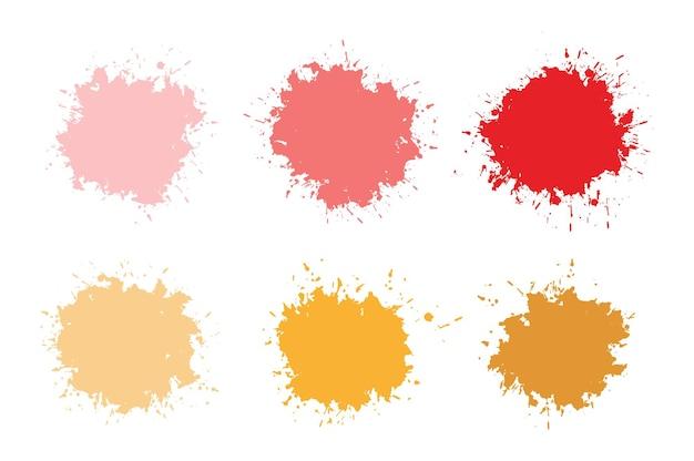 Set di schizzi di vernice colorata