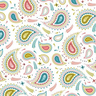 Motivo paisley colorato