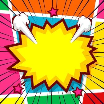 Sfondo di fumetti pop art con pannelli colorati