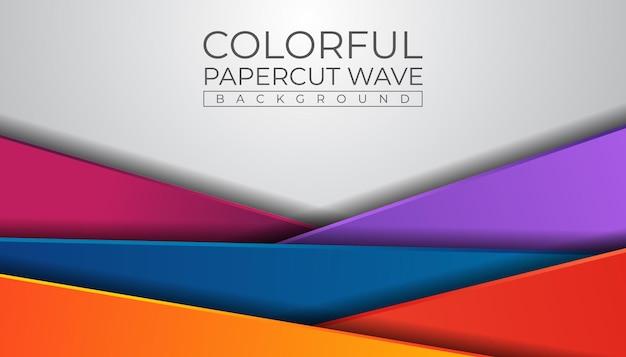 Sfondo colorato papercut
