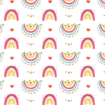 Cuori colorati con motivo arcobaleno invertito