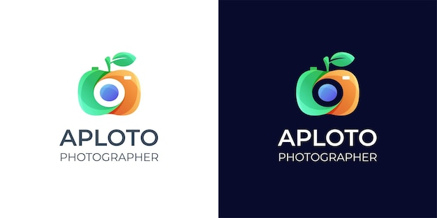 Ispirazione per il design del logo fotografico colorato
