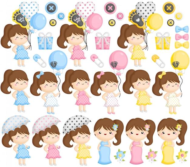 Set di mamma incinta colorato