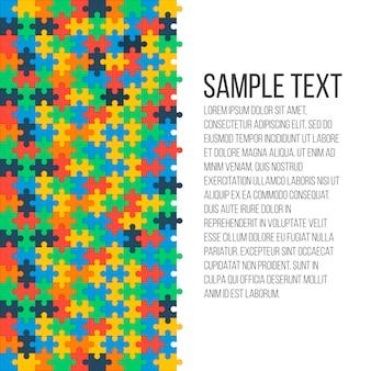 Sfondo colorato puzzle