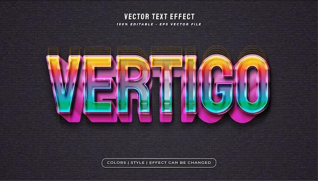 Stile di testo arcobaleno colorato con effetto realistico audace
