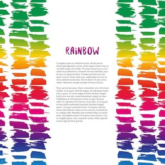Decorazione colorata di arcobaleno. modello vettoriale per volantino, banner, poster, opuscolo, copertina