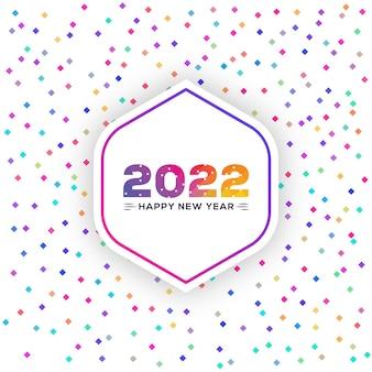 Colorato casuale punto diamante esagonale felice anno nuovo 2022 sfondo minimo astratto