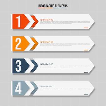 Elementi di infografica rettangolari colorati